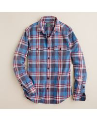 J.Crew | Blue Vintage Flannel Shirt in Cheatham Plaid for Men | Lyst