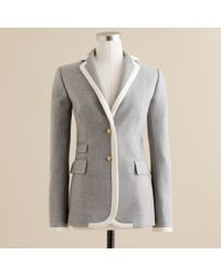 J.Crew | Gray Hacking Jacket in Tipped Double-serge Wool | Lyst