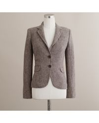J.Crew | Brown Schoolboy Blazer in Classic Donegal Tweed | Lyst