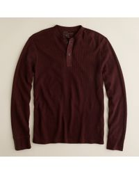 J.Crew | Purple Spindletop Waffle Henley for Men | Lyst