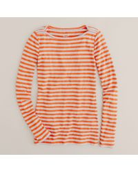 J.Crew | Red Boatneck Painter Tee in Stripe | Lyst