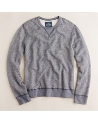 J.Crew | Blue Marled Fleece Sweatshirt for Men | Lyst