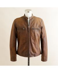 J.Crew | Brown Stockton Racer Jacket for Men | Lyst