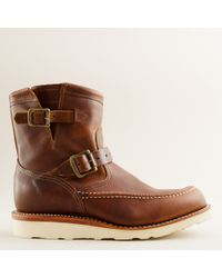J.Crew | Brown Chippewa® 7 Mocc Toe Engineer Boots for Men | Lyst