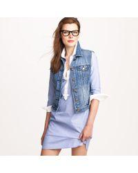 J.Crew | Blue Denim Vest in Workwear Wash | Lyst