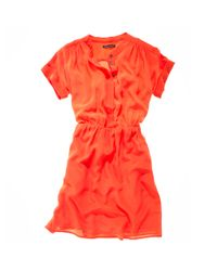 Madewell | Orange Sunday Stroll Shirtdress | Lyst