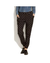 Madewell | Black Salt & Pepper Slouch Pants | Lyst