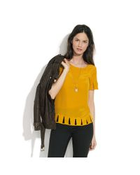 Madewell | Yellow Silk Daytripper Top | Lyst