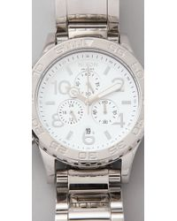 Nixon - Metallic 42-20 Chrono Watch - Lyst