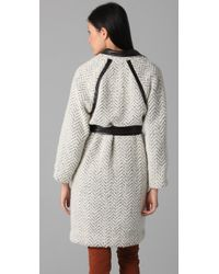 Sachin & Babi   White Leather-detail Elizabeth Jacket   Lyst