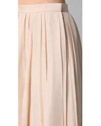 Adam Lippes - Natural Long Pleated Skirt - Lyst