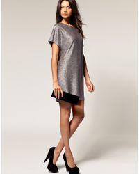 ASOS Collection - Asos Metallic Cocoon Dress - Lyst