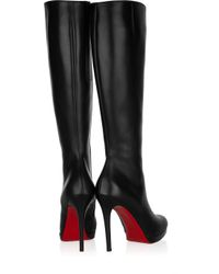 Christian Louboutin | Black New Simple Botta 120 Leather Knee Boots | Lyst