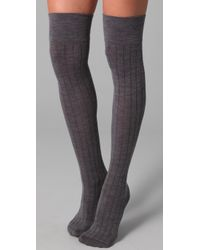 Club Monaco | Gray Wool Thigh High Socks | Lyst