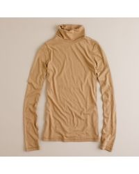 J.Crew | Natural Tissue Turtleneck Tee | Lyst