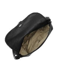 Stella McCartney - Black Chain-fringed Faux Leather Shoulder Bag - Lyst