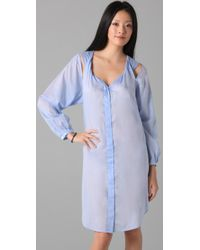 Therese Rawsthorne - Blue Twist Smock Dress - Lyst