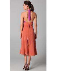 Zimmermann | Orange Contrast Halter Dress | Lyst