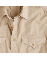 J.Crew | Natural Wallace & Barnes Makin Island Chino Shirt for Men | Lyst