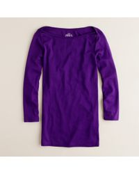 J.Crew | Purple Perfect-fit Boatneck Tee | Lyst