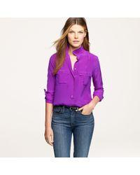 J.Crew | Purple Blythe Blouse in Silk | Lyst