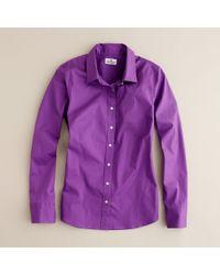 J.Crew | Purple Stretch Perfect Shirt | Lyst