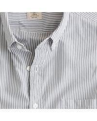 J.Crew - Gray Secret Wash Button-down Shirt in Sulian Stripe for Men - Lyst