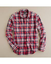 J.Crew | Red Vintage Flannel Shirt in Garland Plaid for Men | Lyst