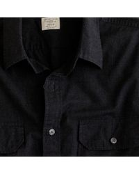 J.Crew | Black Heathered Utility Shirt for Men | Lyst