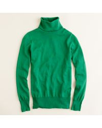 J.Crew | Green Merino Turtleneck Sweater | Lyst