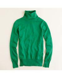 J.Crew - Green Merino Turtleneck Sweater - Lyst