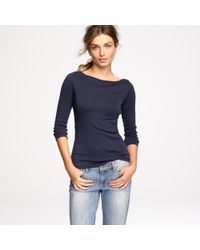 J.Crew | Blue Perfect-fit Boatneck Tee | Lyst