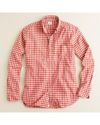 J.Crew | Red Secret Wash Button-down Shirt in Addison Gingham for Men | Lyst