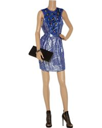 M Missoni | Blue Printed Stretch-jersey Maxi Dress | Lyst