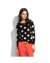 Madewell | Black Spotdot Sweater | Lyst
