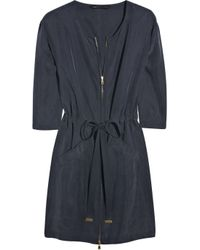 Marc By Marc Jacobs | Blue Washed-silk Zip Dress | Lyst