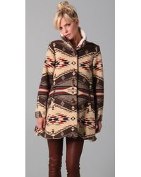 Opening Ceremony - Brown Flare Coat - Lyst