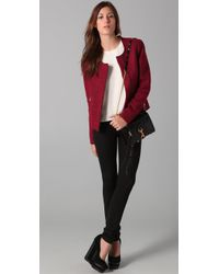 Rebecca Minkoff | Red Sigrid Boucle Jacket | Lyst