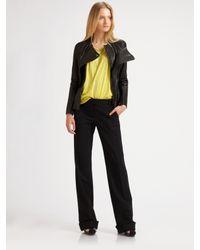 3.1 Phillip Lim | Black Leather Peplum Jacket | Lyst