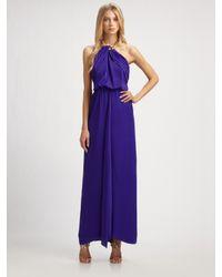 BCBGMAXAZRIA | Blue Edith Necklace Gown | Lyst