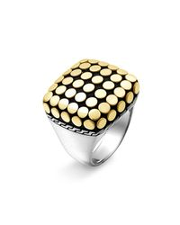 John Hardy | Metallic Dot Gold Square Ring | Lyst