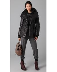 Mackage - Black Selma Shiny Puffy Coat - Lyst