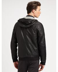 Marc By Marc Jacobs - Black Washed Leather Jacket for Men - Lyst