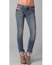 PRPS | Blue Print Skinny Jeans | Lyst