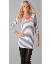 Splendid - White Granite Stripe Thermal Long Sleeve Tee - Lyst