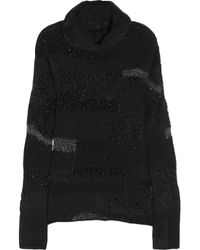 Zadig & Voltaire | Black Reno Deluxe Tinsel-trimmed Sweater | Lyst