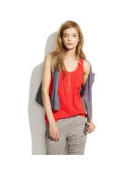 Madewell | Red Booklist Tank | Lyst