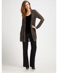 Eileen Fisher | Gray Long Sparkle Cardigan | Lyst