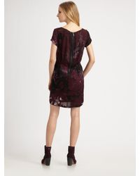 Rag & Bone - Black Leonard Printed Silk Dress - Lyst