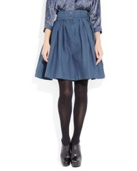 Preen Line | Blue Bianca High-waisted Stretch Cotton-drill Skirt | Lyst